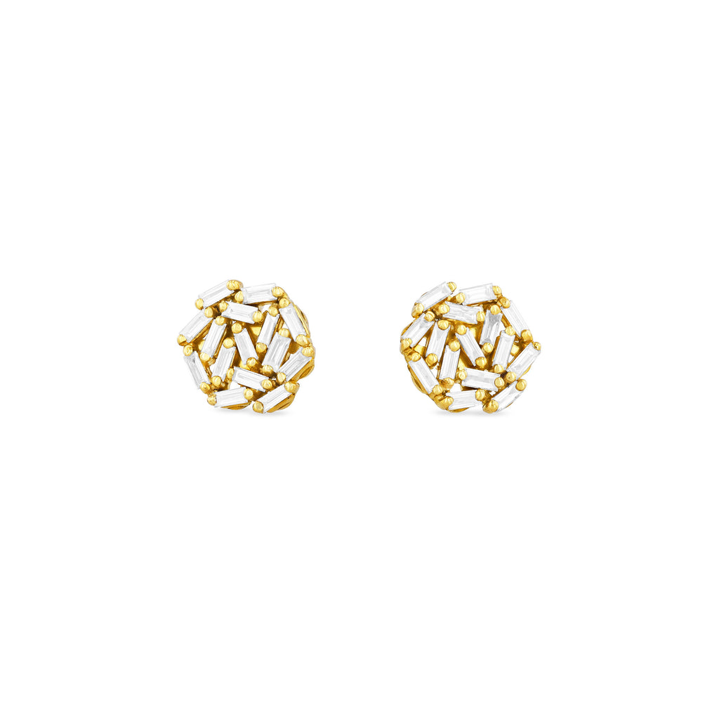 CLASSIC FIREWORKS 6MM ROUND STUD EARRING