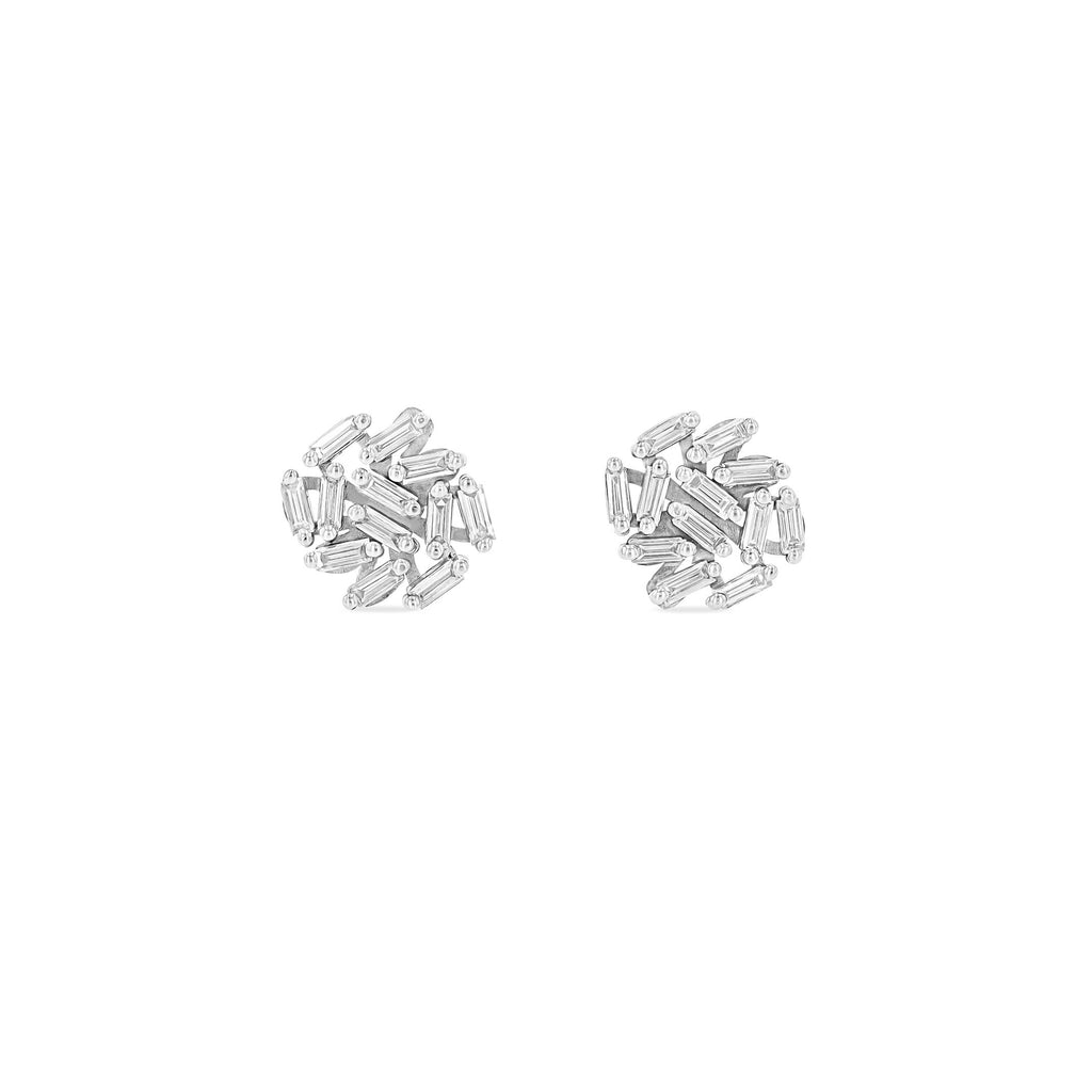 CLASSIC 9MM ROUND FIREWORKS STUD EARRINGS
