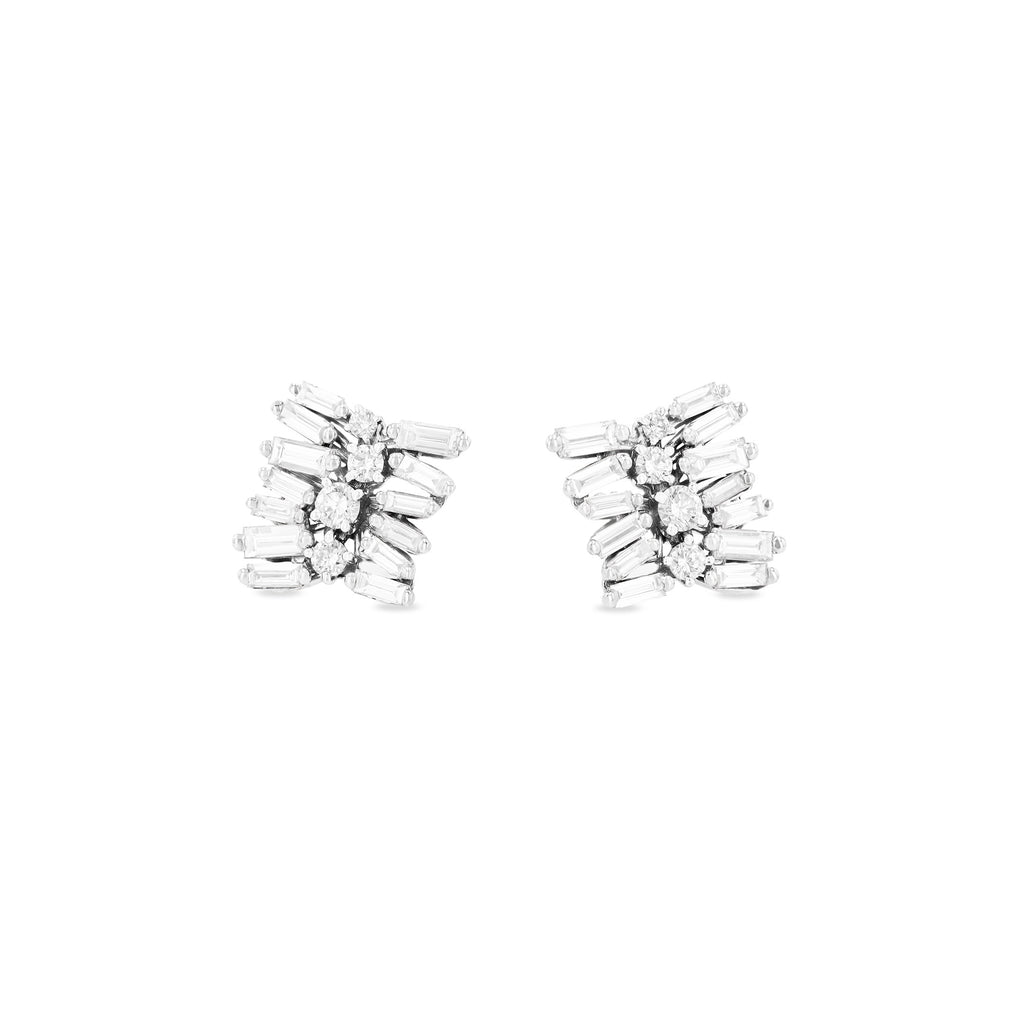 ADELE WHITE DIAMOND STUD EARRINGS