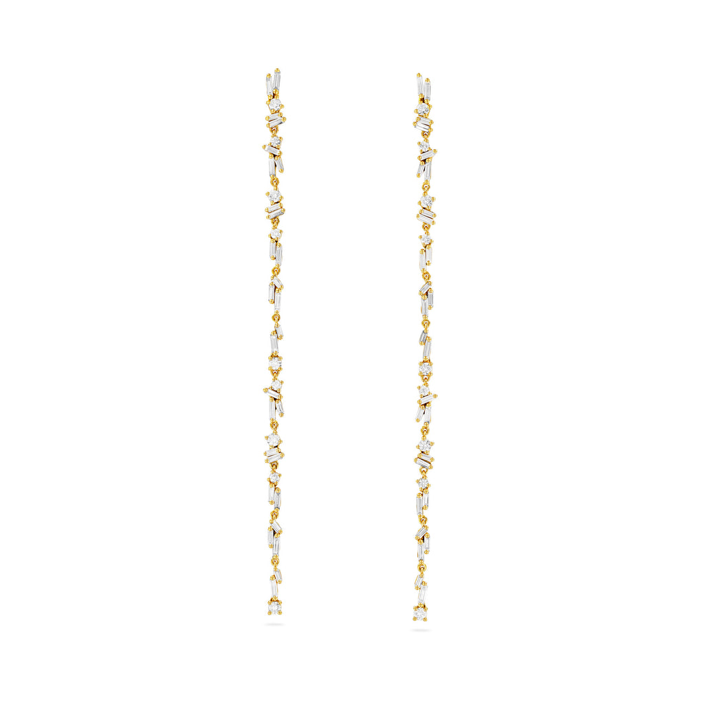 CASCADE FIREWORKS LONG DROP EARRINGS