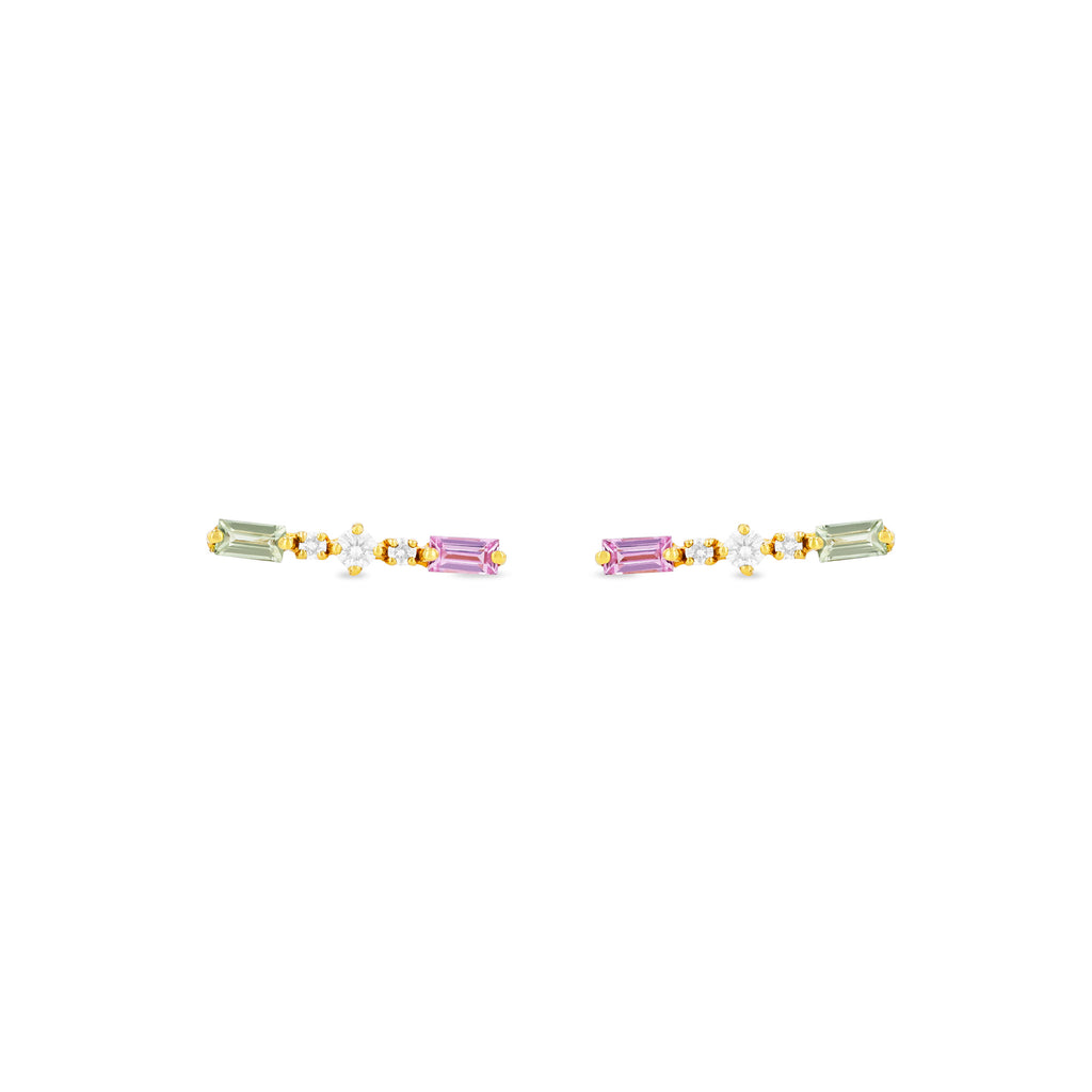 GISELLE BAGUETTE MIX EARRINGS