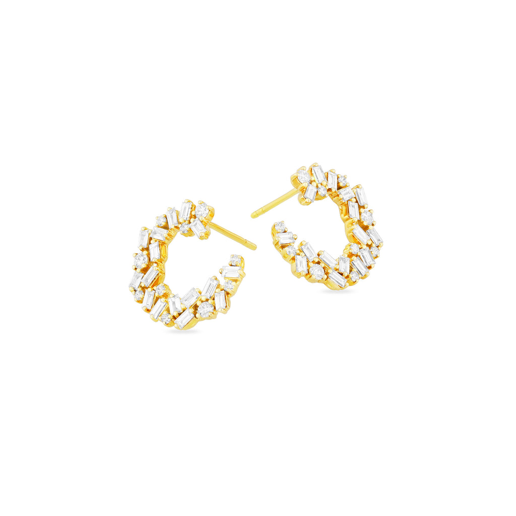 CHLOE WHITE DIAMOND EARRINGS