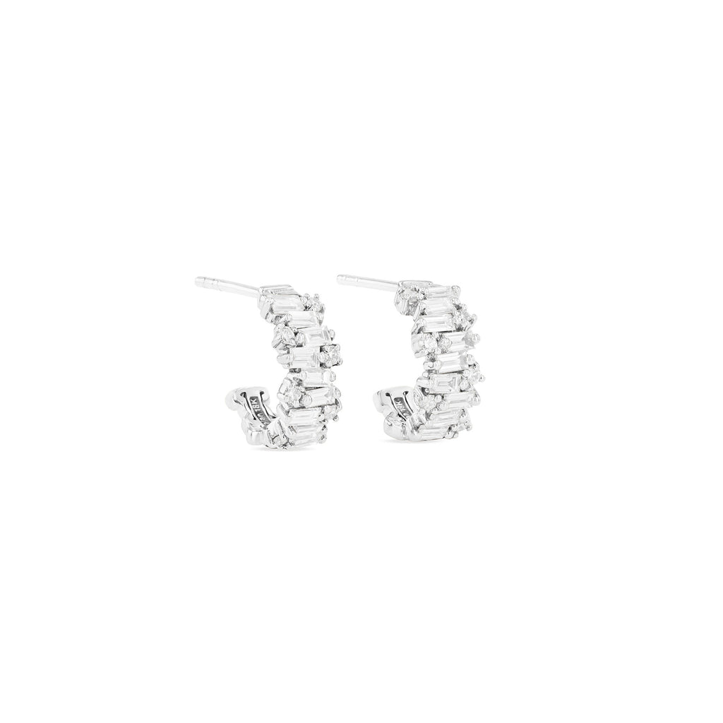 SHIMMER COLLECTION 12MM HUGGIE EARRING