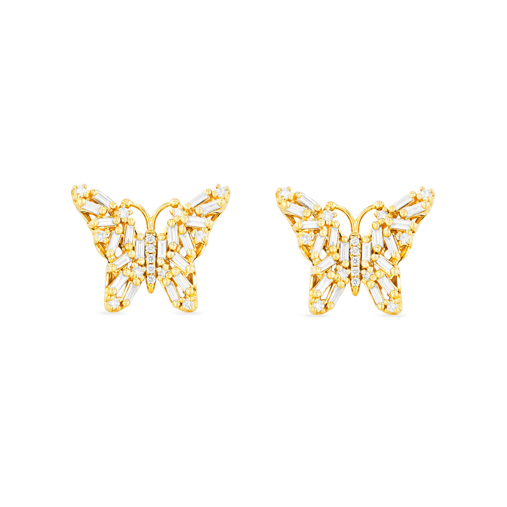 CALLA BUTTERFLY STUD EARRINGS