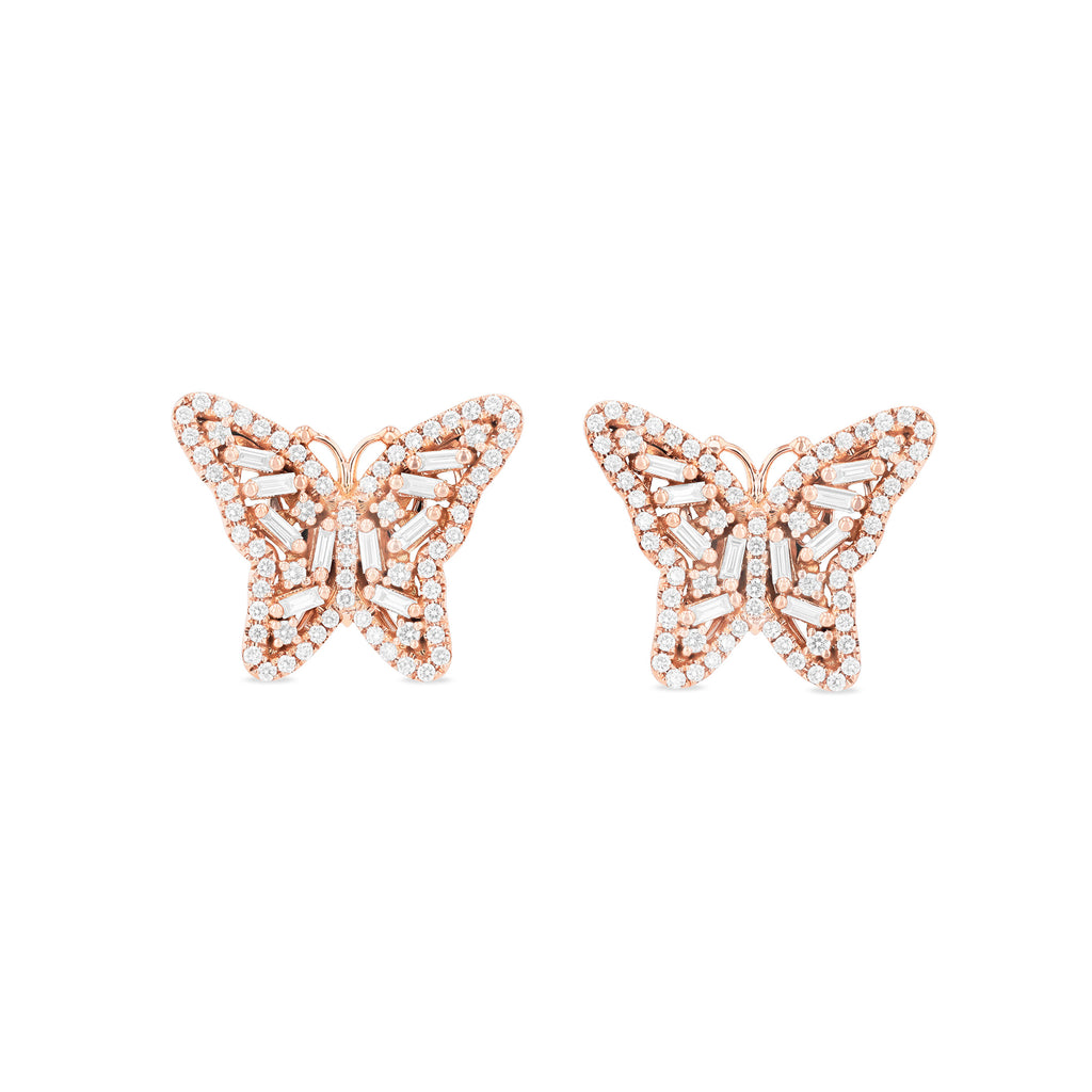 SMALL BUTTERFLY STUD EARRINGS