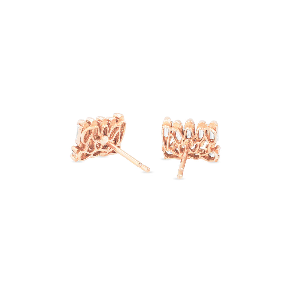 CIERRA WHITE DIAMOND STUD EARRING