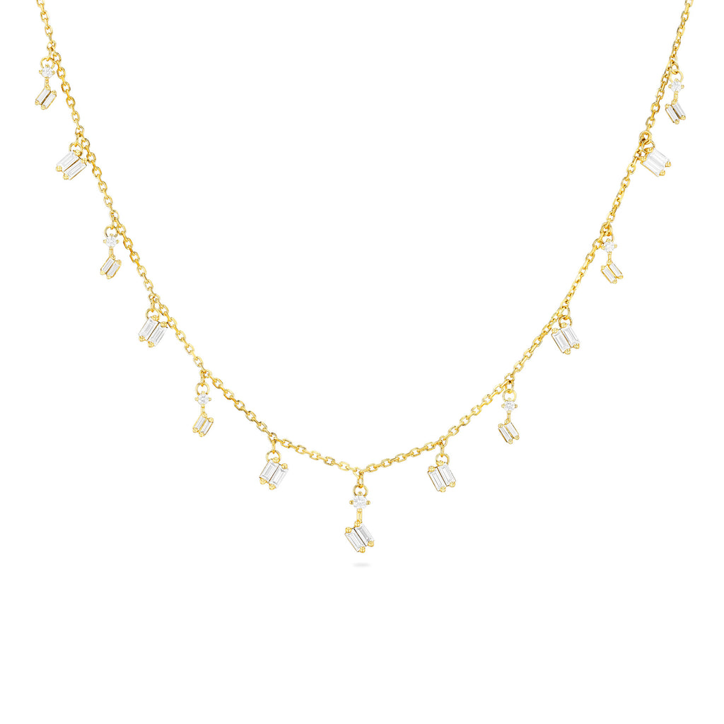 CASCADE WHITE DIAMOND NECKLACE
