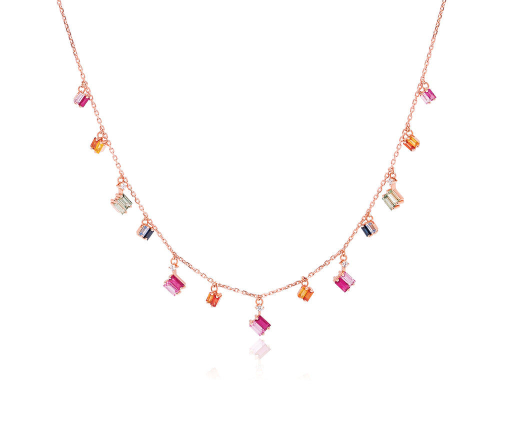 RAINBOW FRENZY DROPS NECKLACE