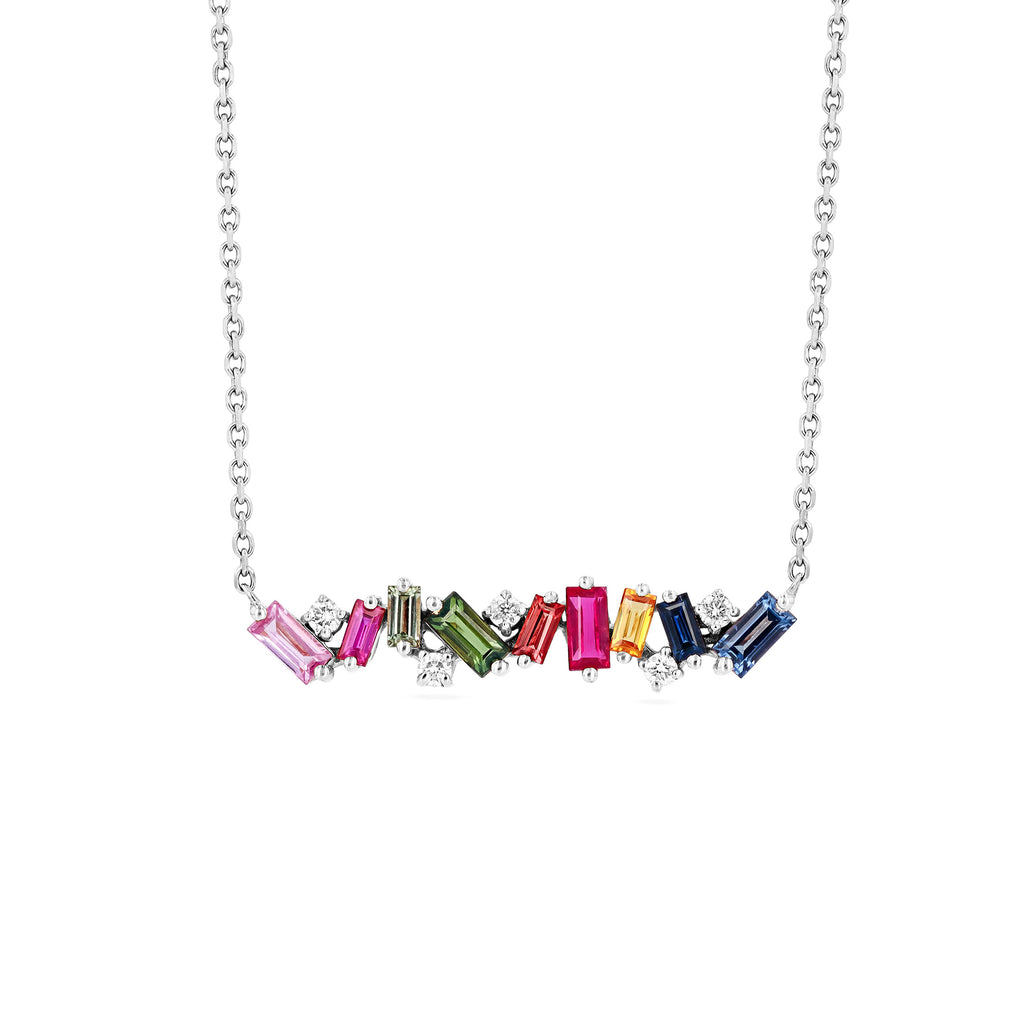 RAINBOW FIREWORKS BAR NECKLACE