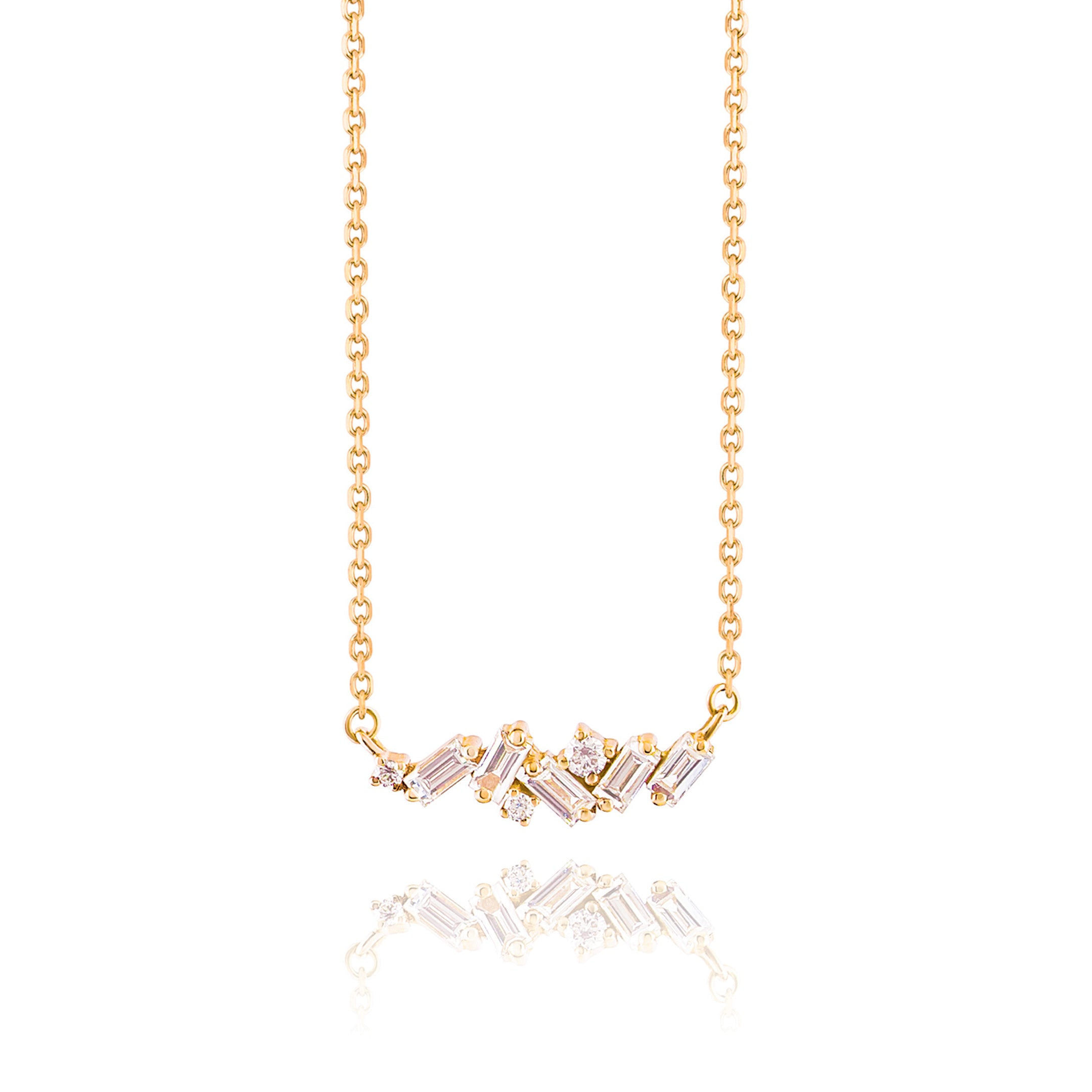 18K YELLOW GOLD FIREWORKS SMALL SPARKLER NECKLACE