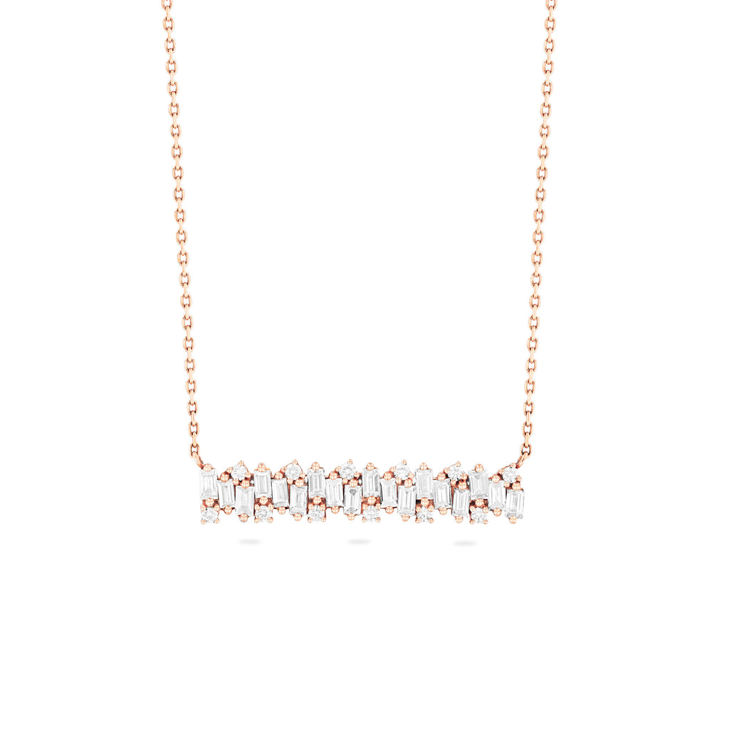 JULIANNA WHITE DIAMOND BAR NECKLACE