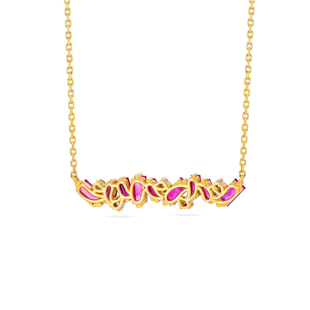 RUBY FIREWORKS BAR NECKLACE