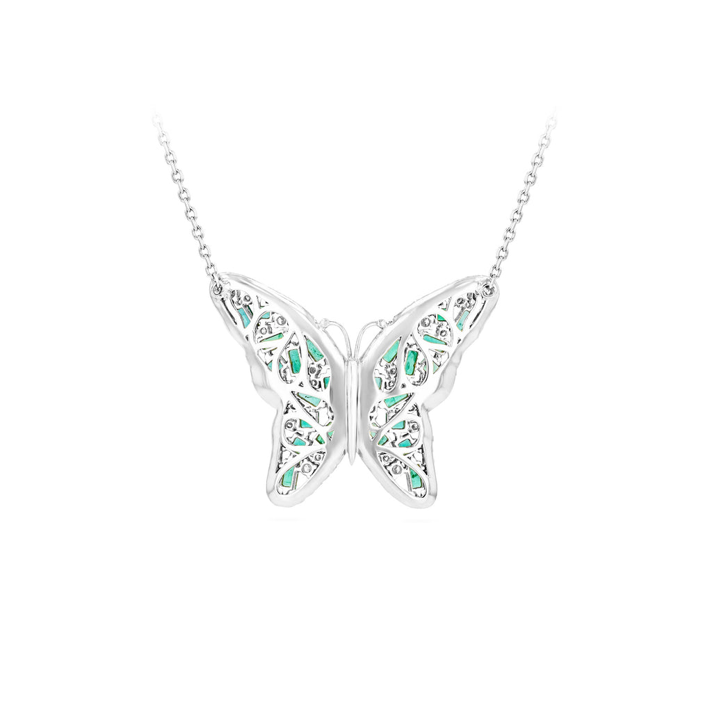 MEDIUM BUTTERFLY EMERALD PENDANT