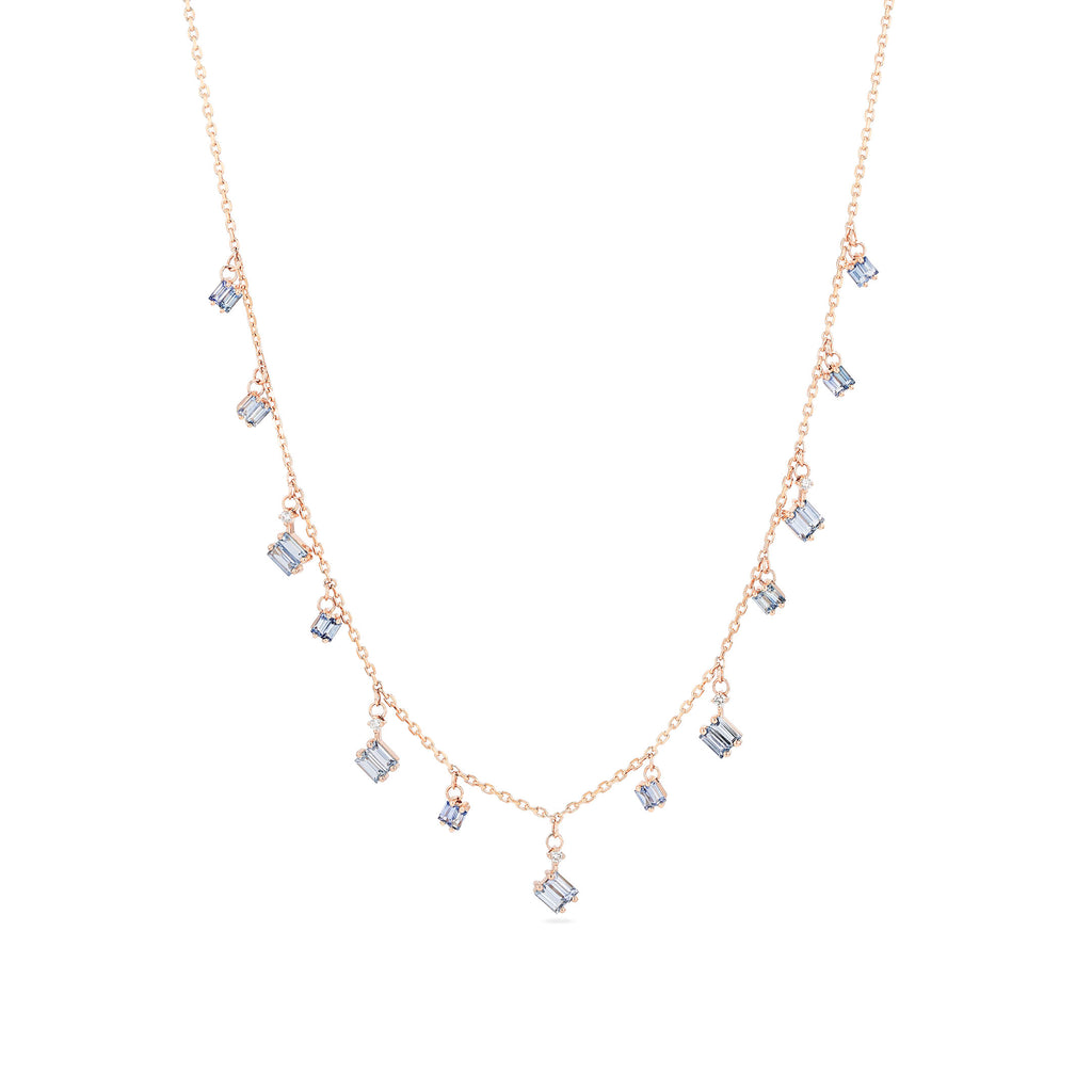 CASCADE LIGHT BLUE SAPPHIRE NECKLACE