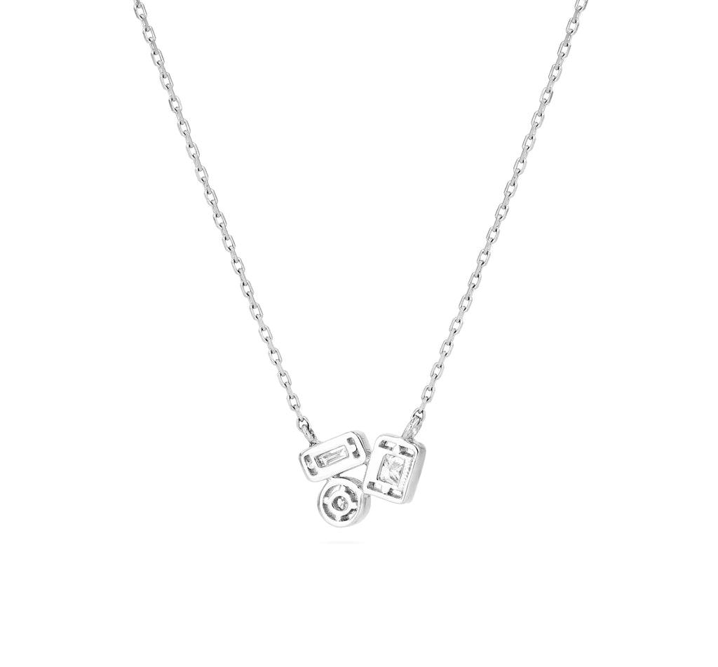 ADALENE WHITE DIAMOND NECKLACE