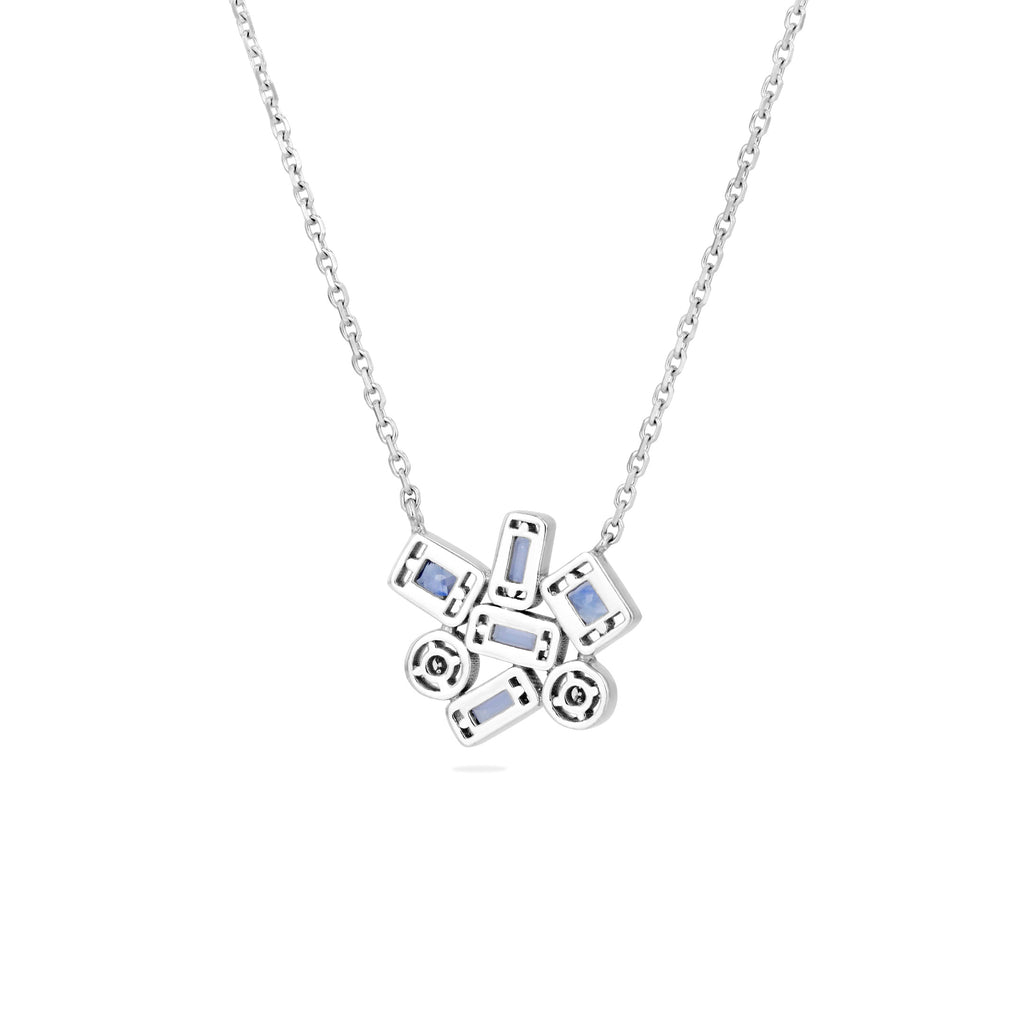 BLISSE LIGHT BLUE SAPPHIRE NECKLACE