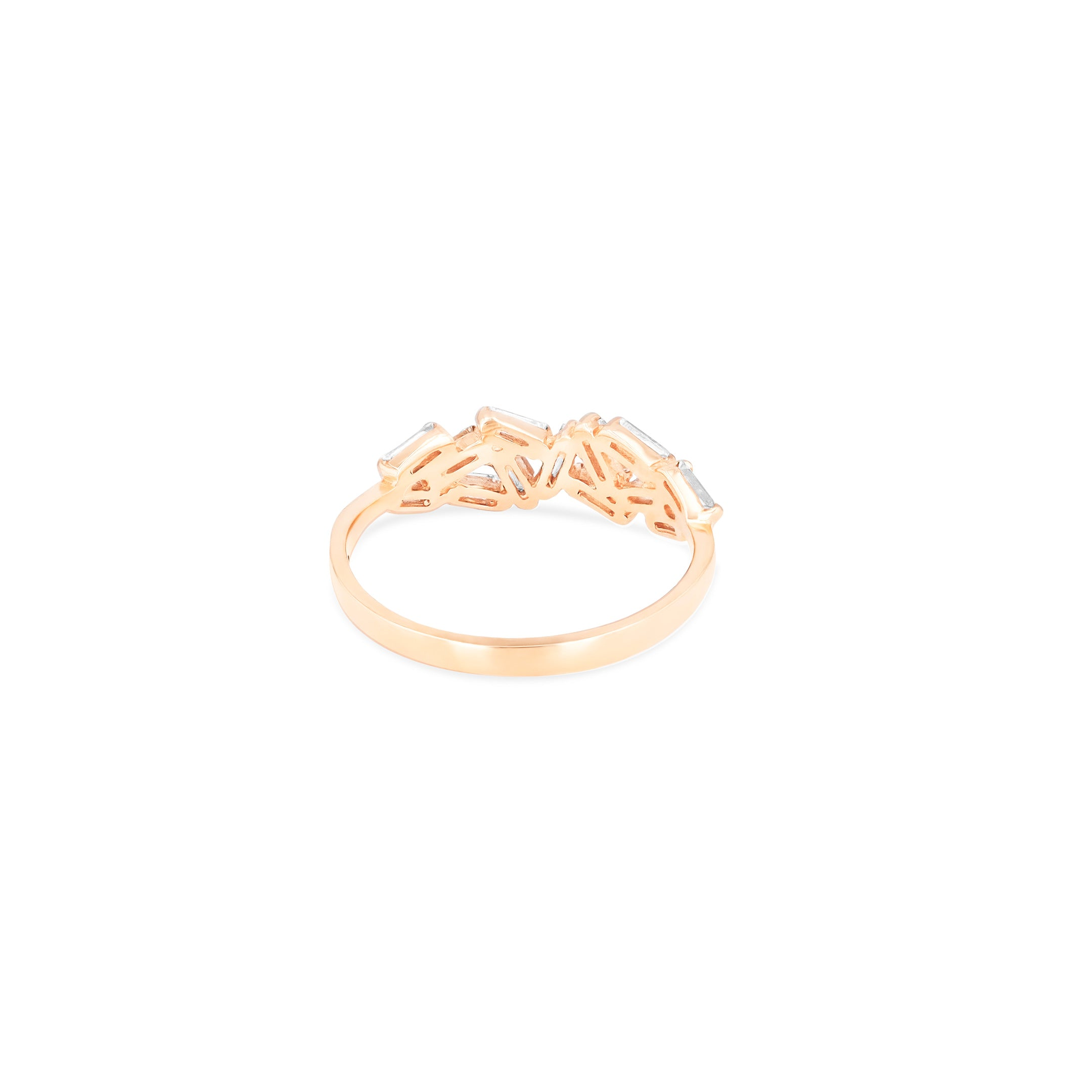18K ROSE GOLD CHEVRON BAND