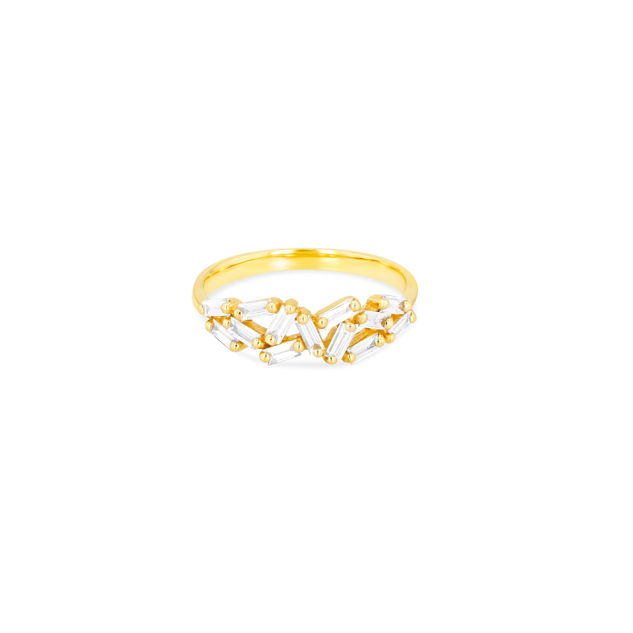 18K YELLOW GOLD CHEVRON BAND
