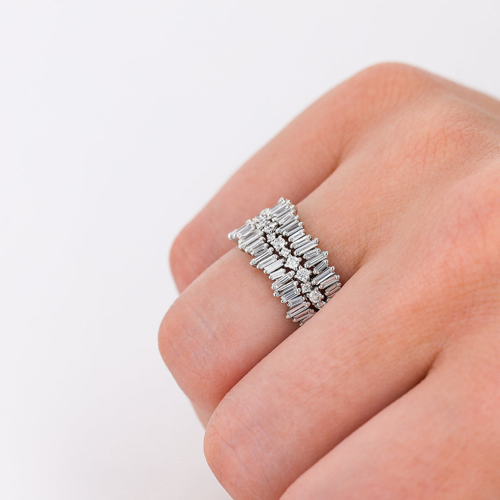 LAYERED THIN ETERNITY BAND