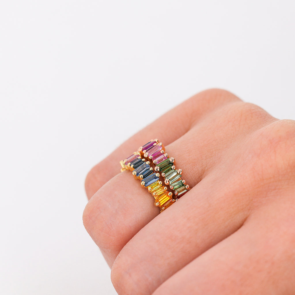RAINBOW CLASSIC ETERNITY BAND