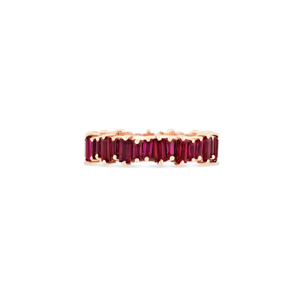 18K RUBY BAGUETTE ETERNITY BAND