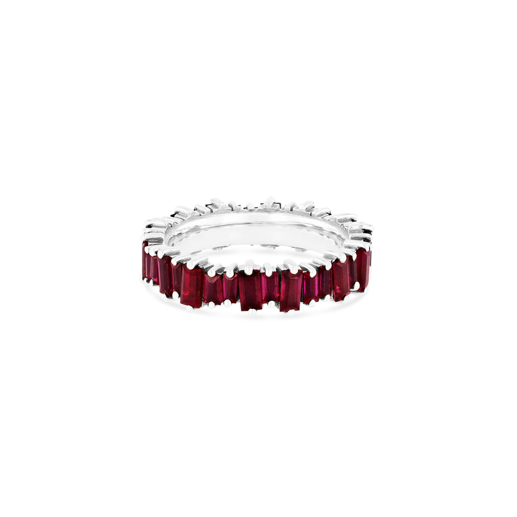 RUBY BAGUETTE ETERNITY BAND