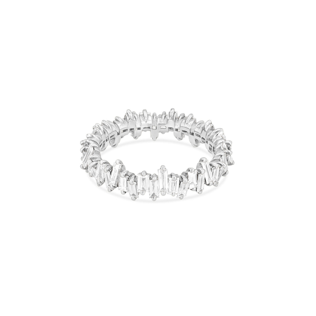 WHITE DIAMOND JAGGED ETERNITY BAND