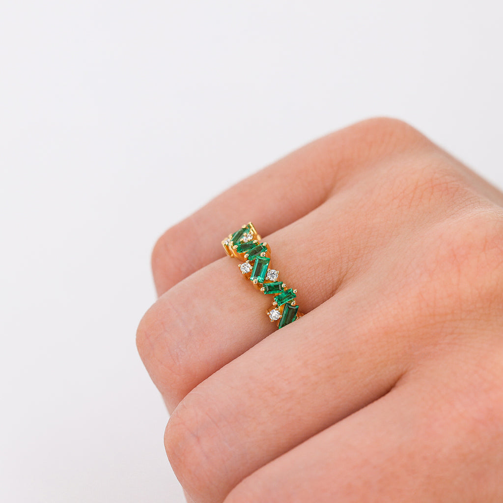 EMERALD FRENZY ETERNITY BAND
