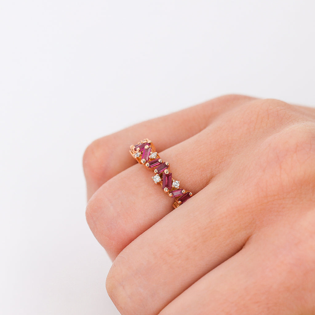 RUBY FRENZY ETERNITY BAND
