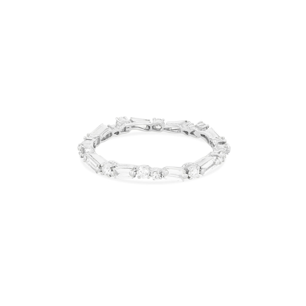 WHITE DIAMOND THIN MIX ETERNITY BAND