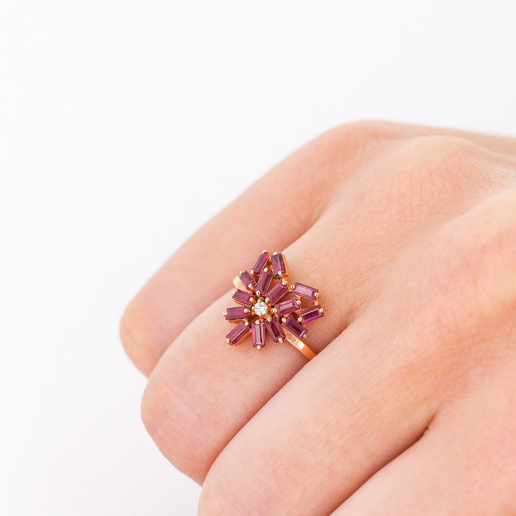 SMALL HEART RUBY RING