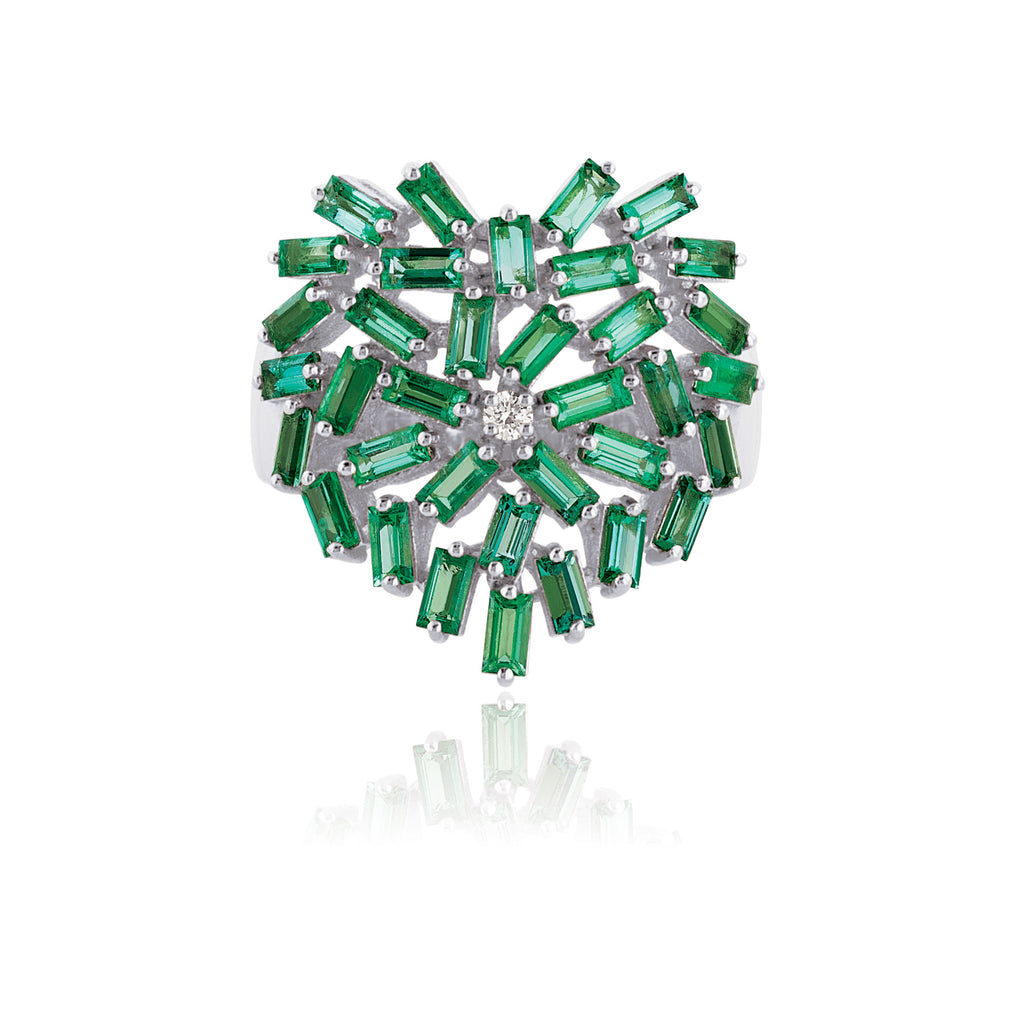 EMERALD MEDIUM HEART RING