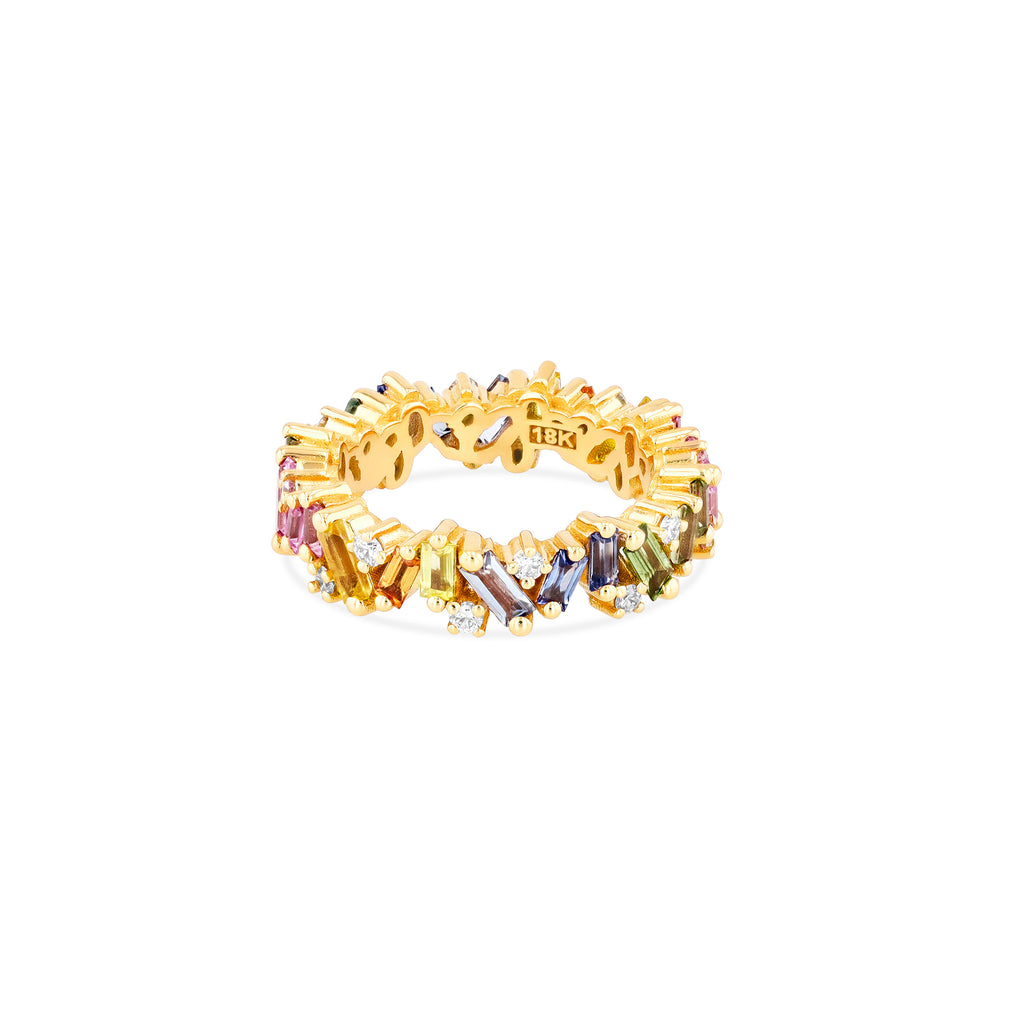 PASTEL SAPPHIRE FRENZY ETERNITY BAND