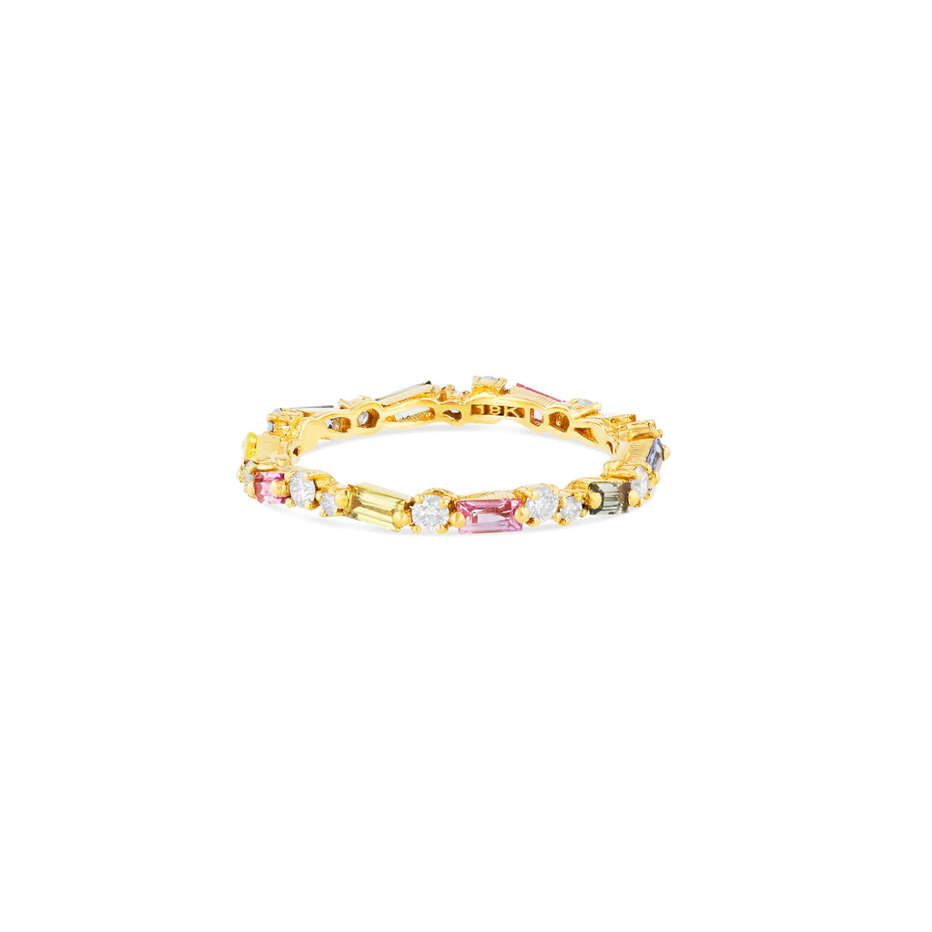 PASTEL FIREWORKS THIN MIX ETERNITY BAND