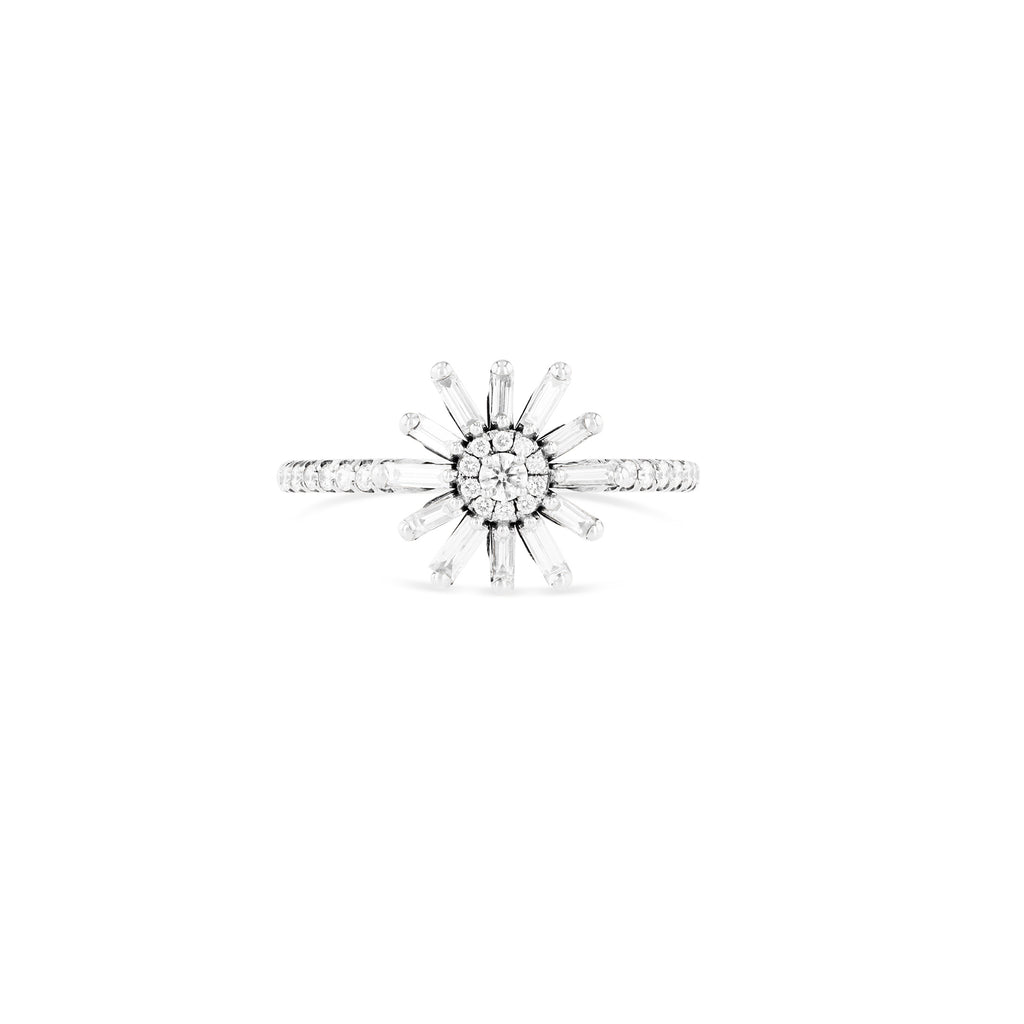 SABINE WHITE DIAMOND FLOWER RING