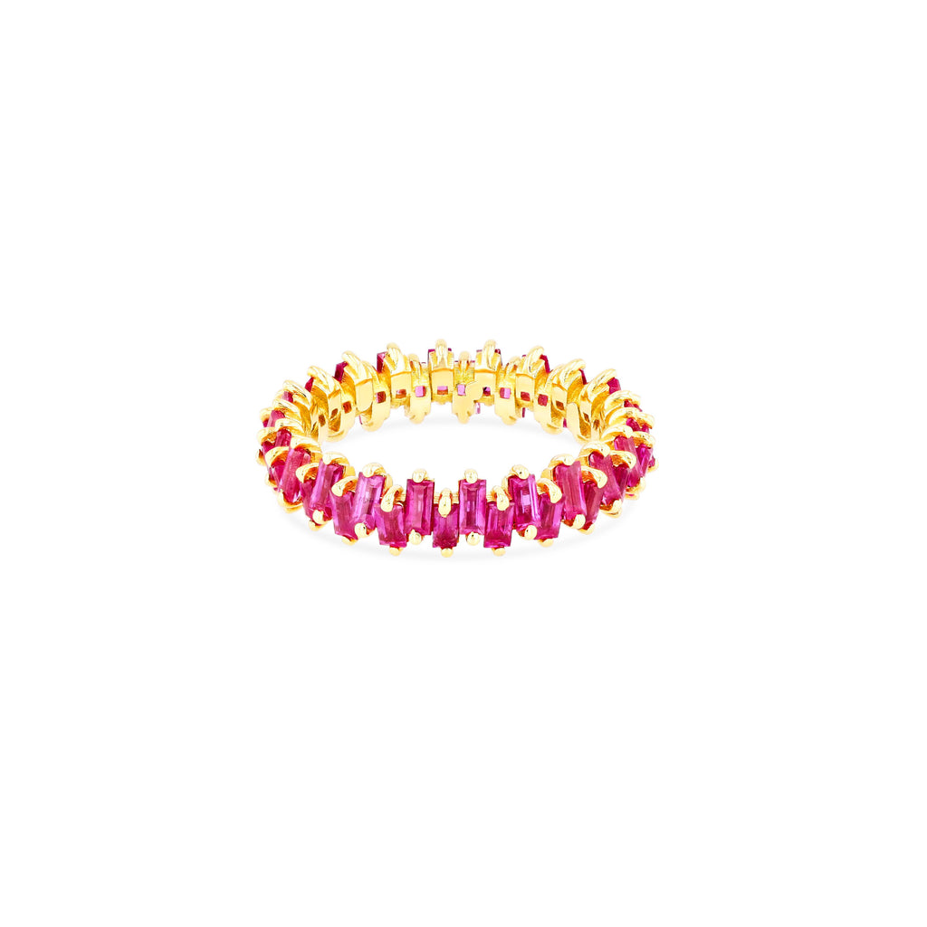 RUBY JAGGED ETERNITY BAND