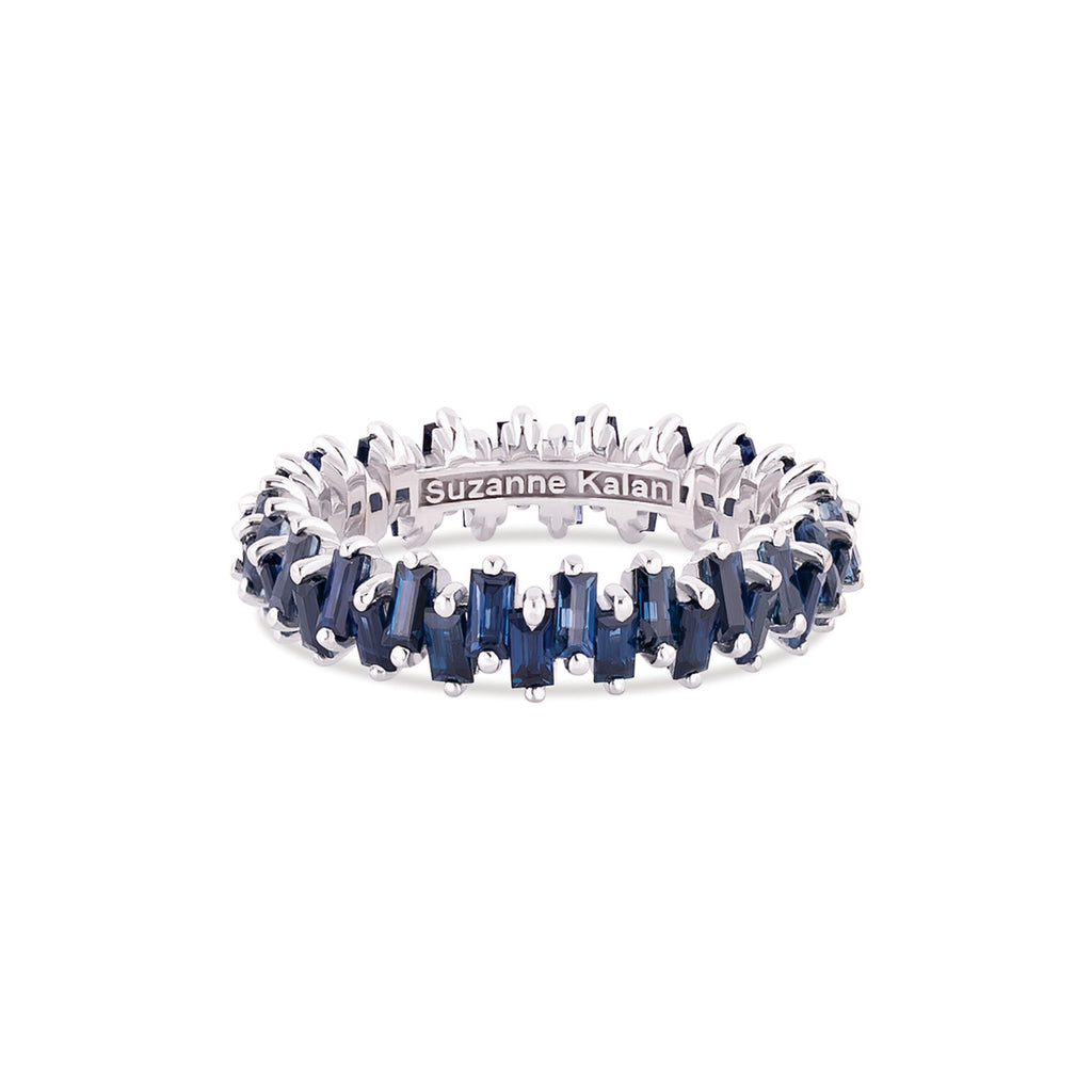 BLUE SAPPHIRE JAGGED ETERNITY BAND