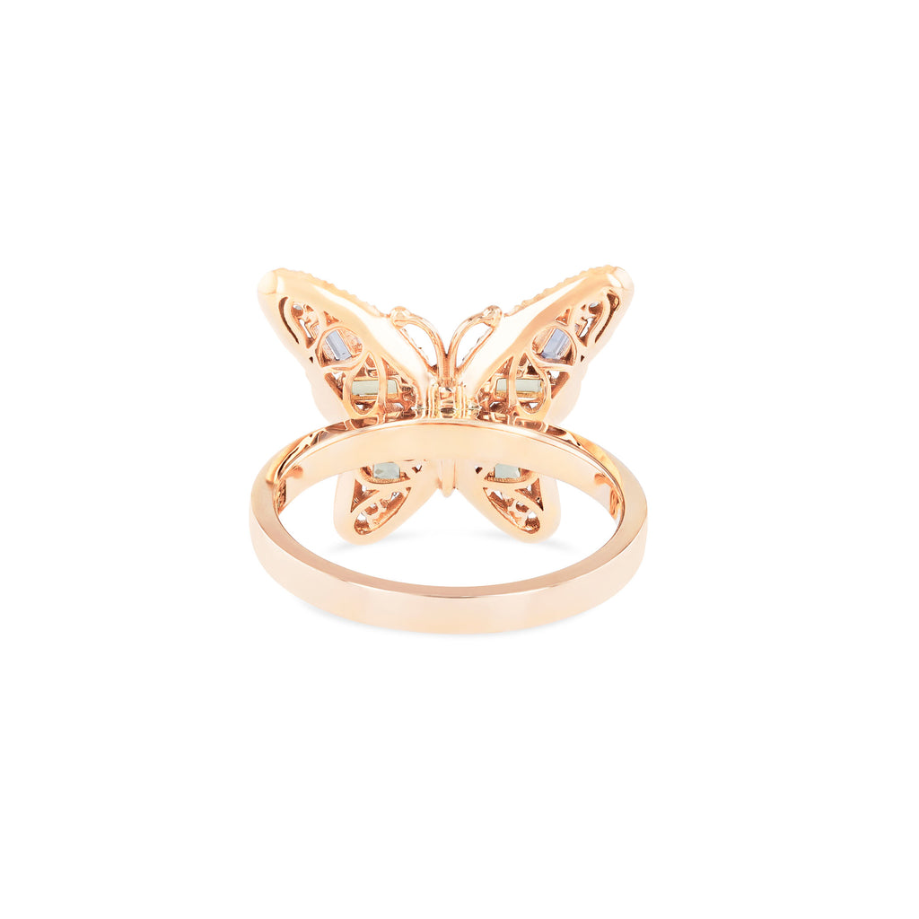 SMALL PASTEL BUTTERFLY RING