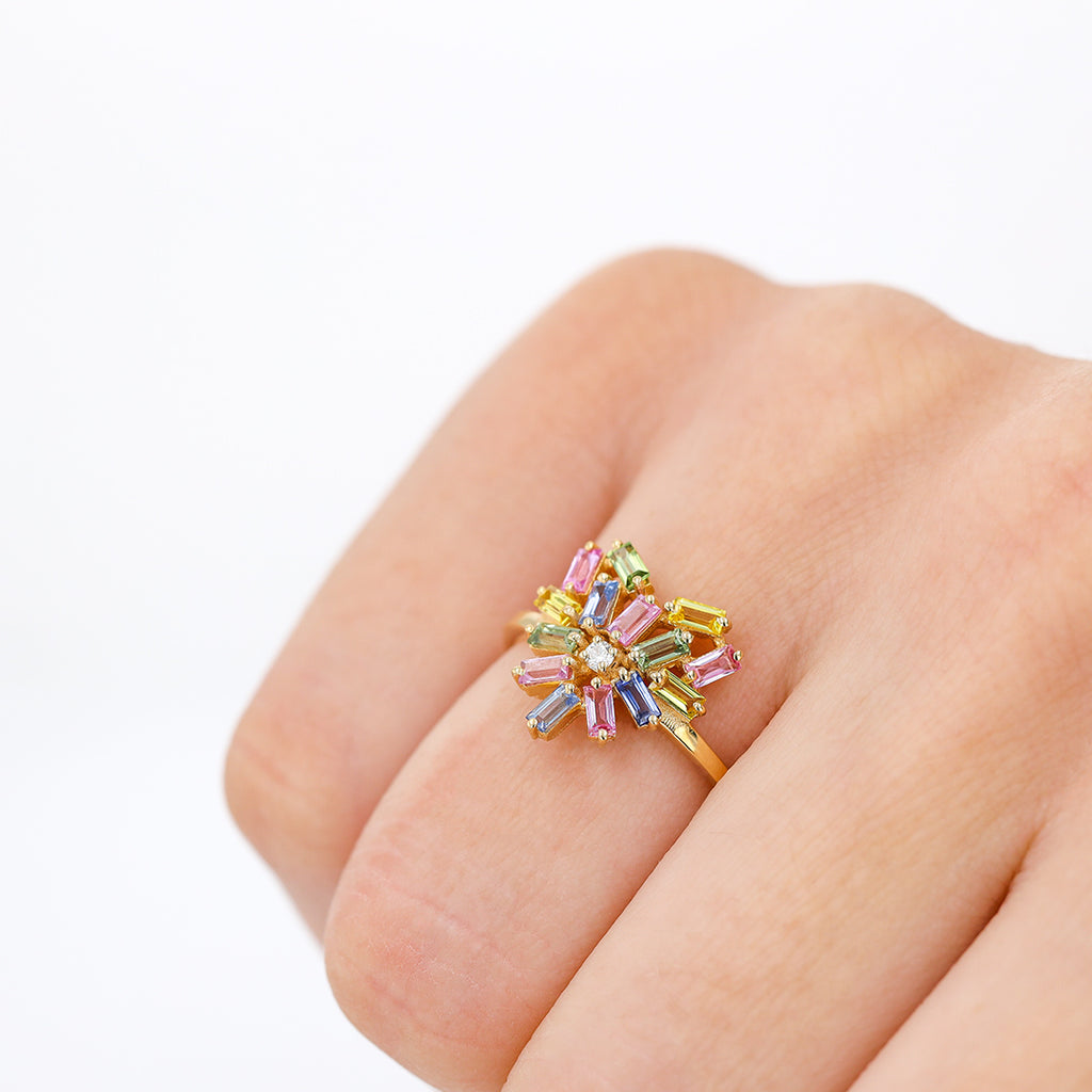 SMALL PASTEL HEART RING