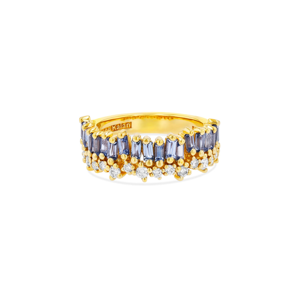 SHORT STACK LIGHT BLUE SAPPHIRE HALF BAND