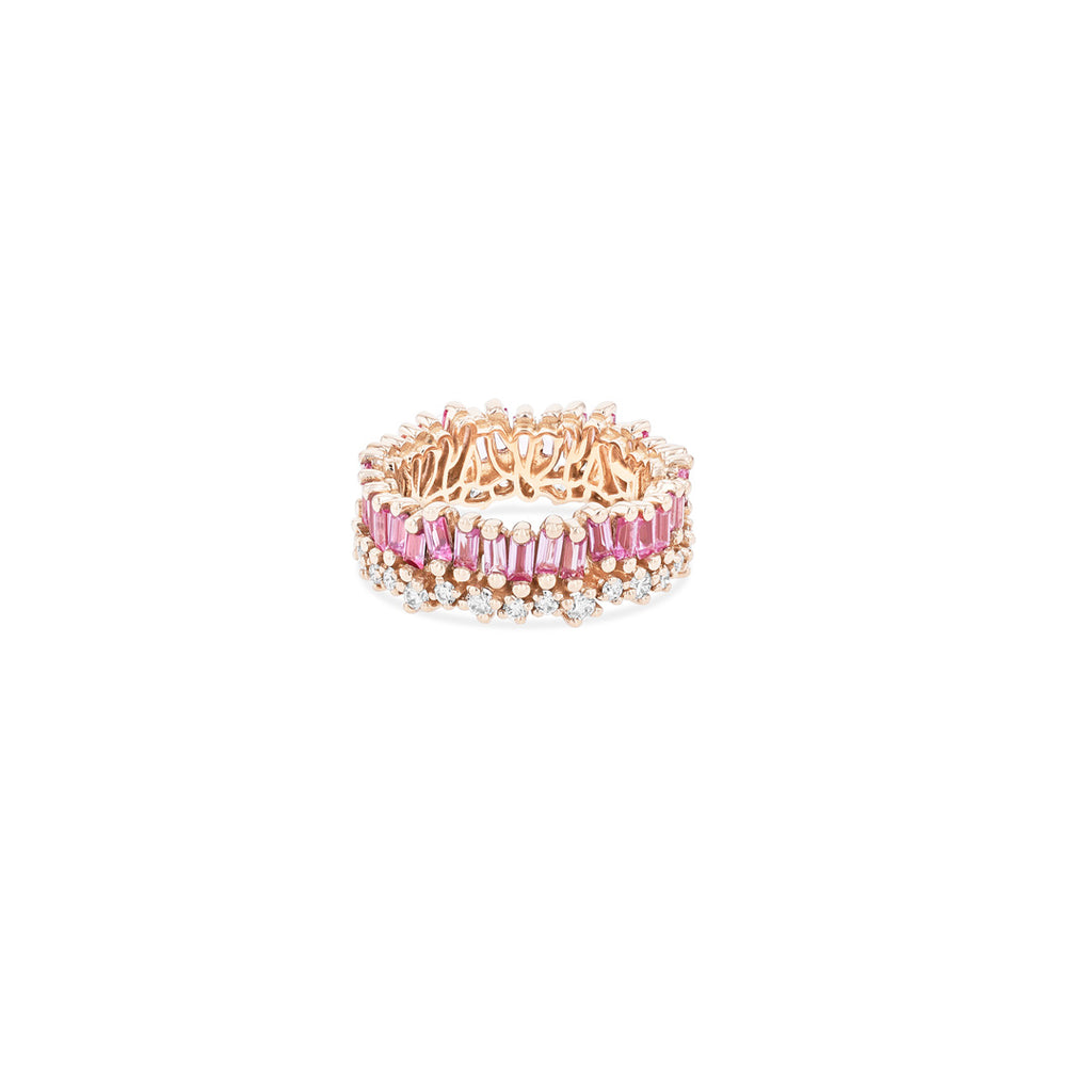 SHORT STACK PINK SAPPHIRE ETERNITY BAND