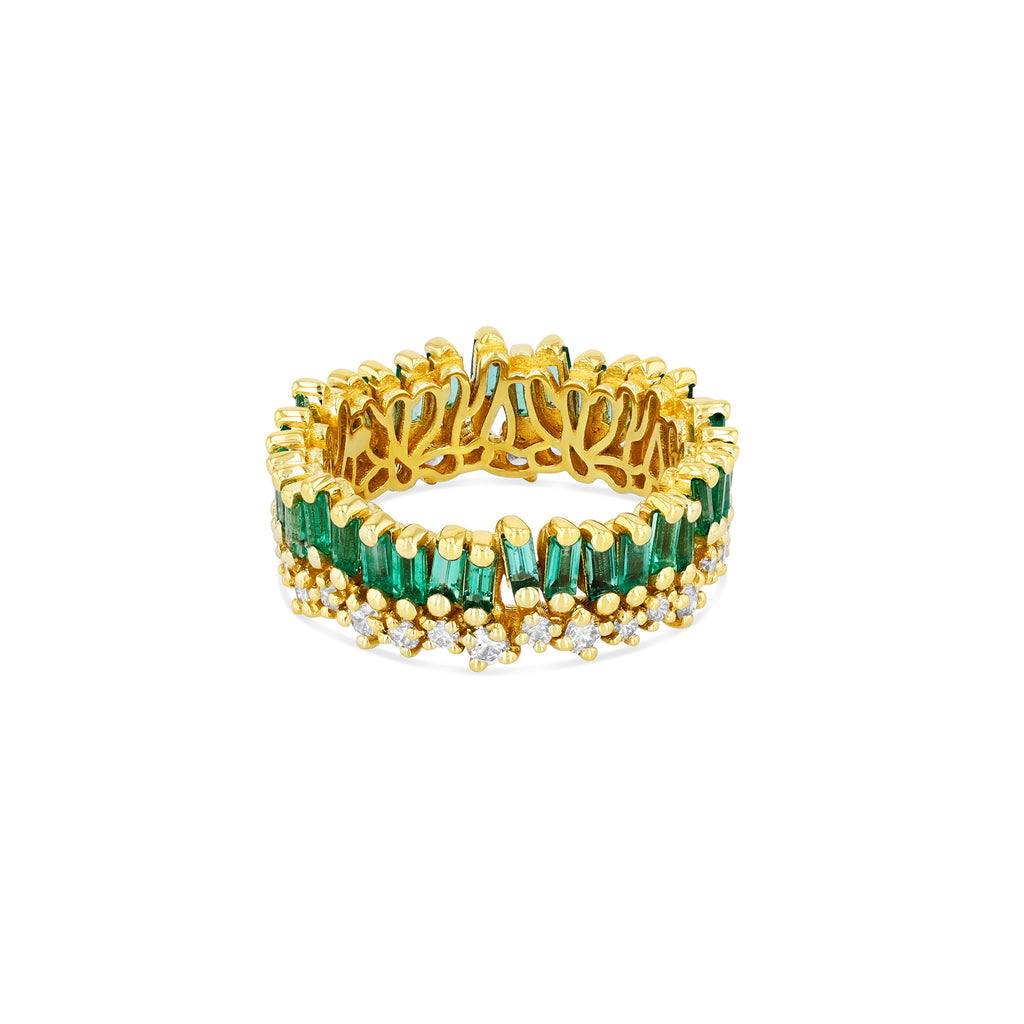 SHORT STACK EMERALD ETERNITY BAND