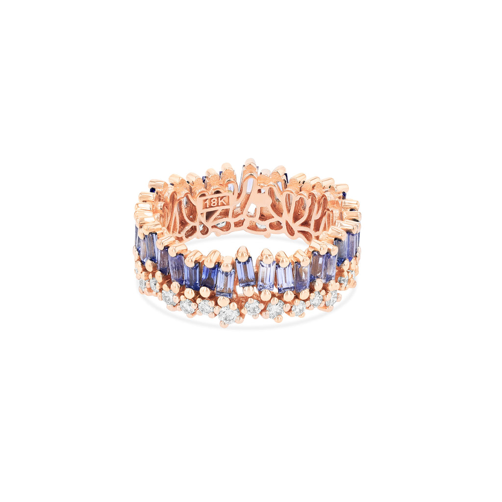 SHORT STACK LIGHT BLUE SAPPHIRE ETERNITY BAND