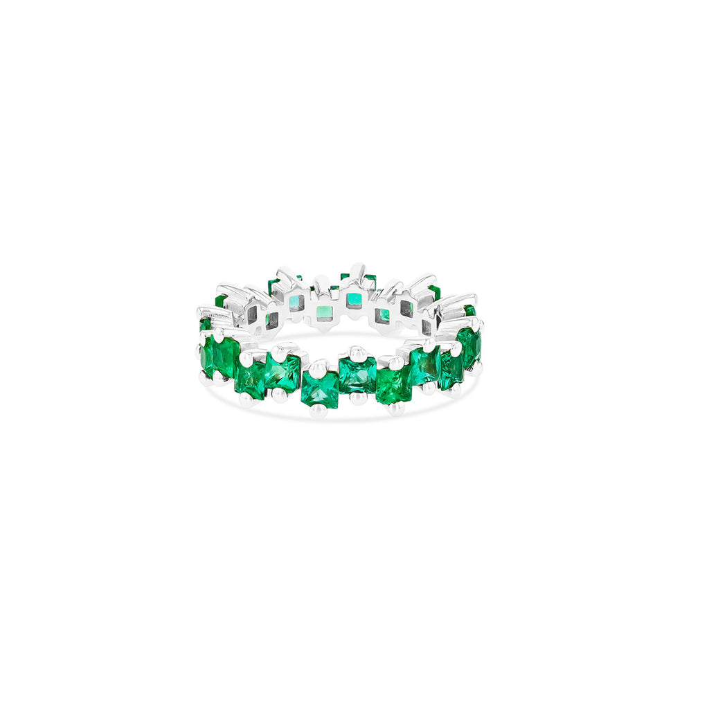 BLAIR PRINCESS CUT EMERALD ETERNITY BAND
