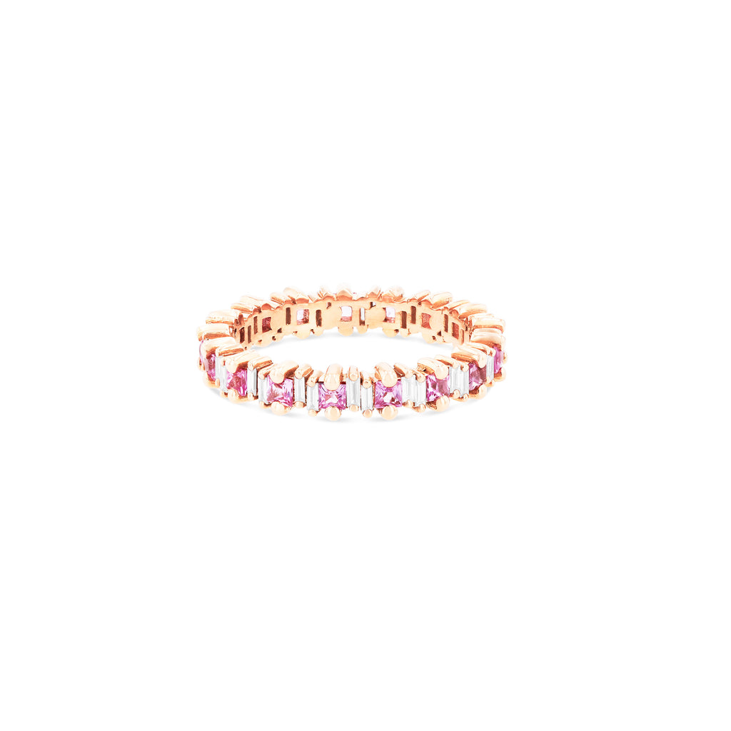 DAHLIA PINK SAPPHIRE ETERNITY BAND