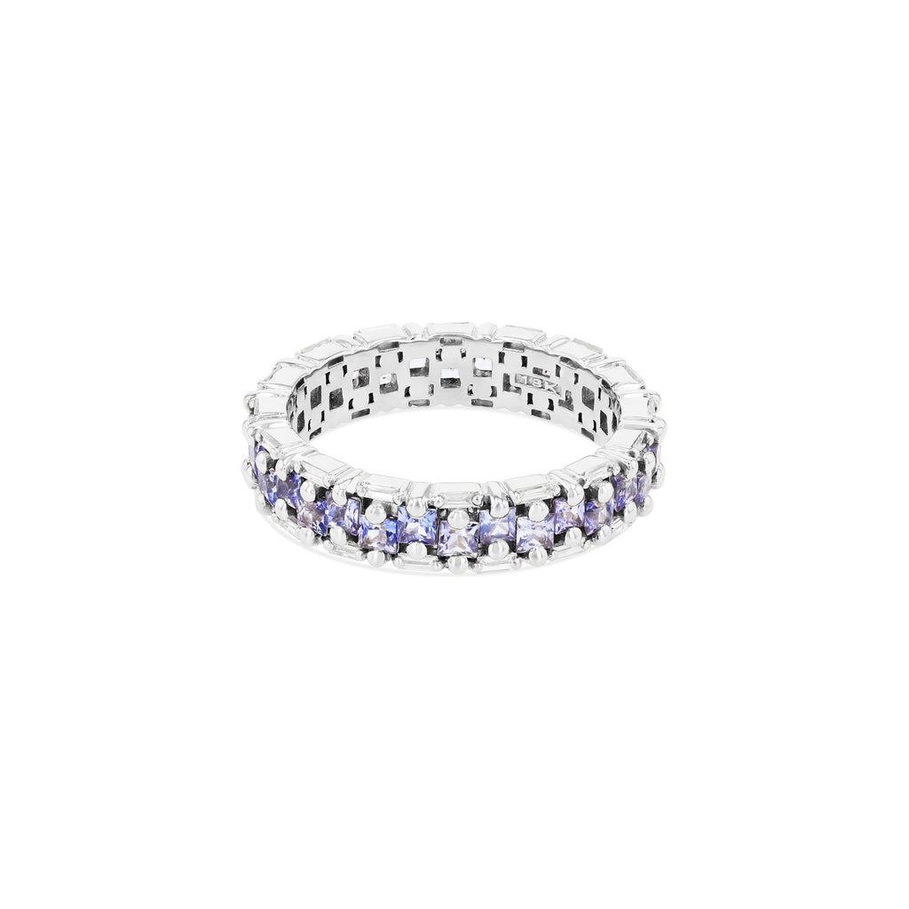 SIENNA LIGHT BLUE SAPPHIRE ETERNITY BAND
