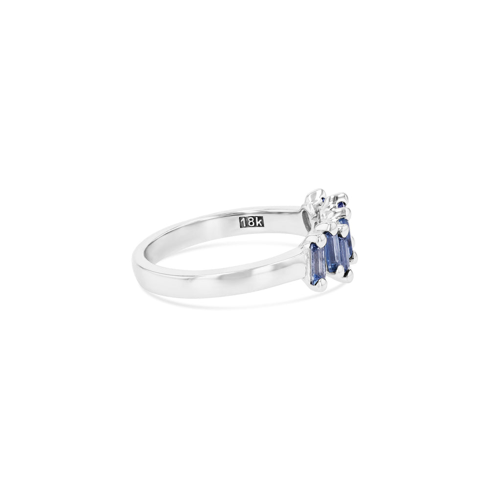 LIGHT BLUE SAPPHIRE WAVE BAND