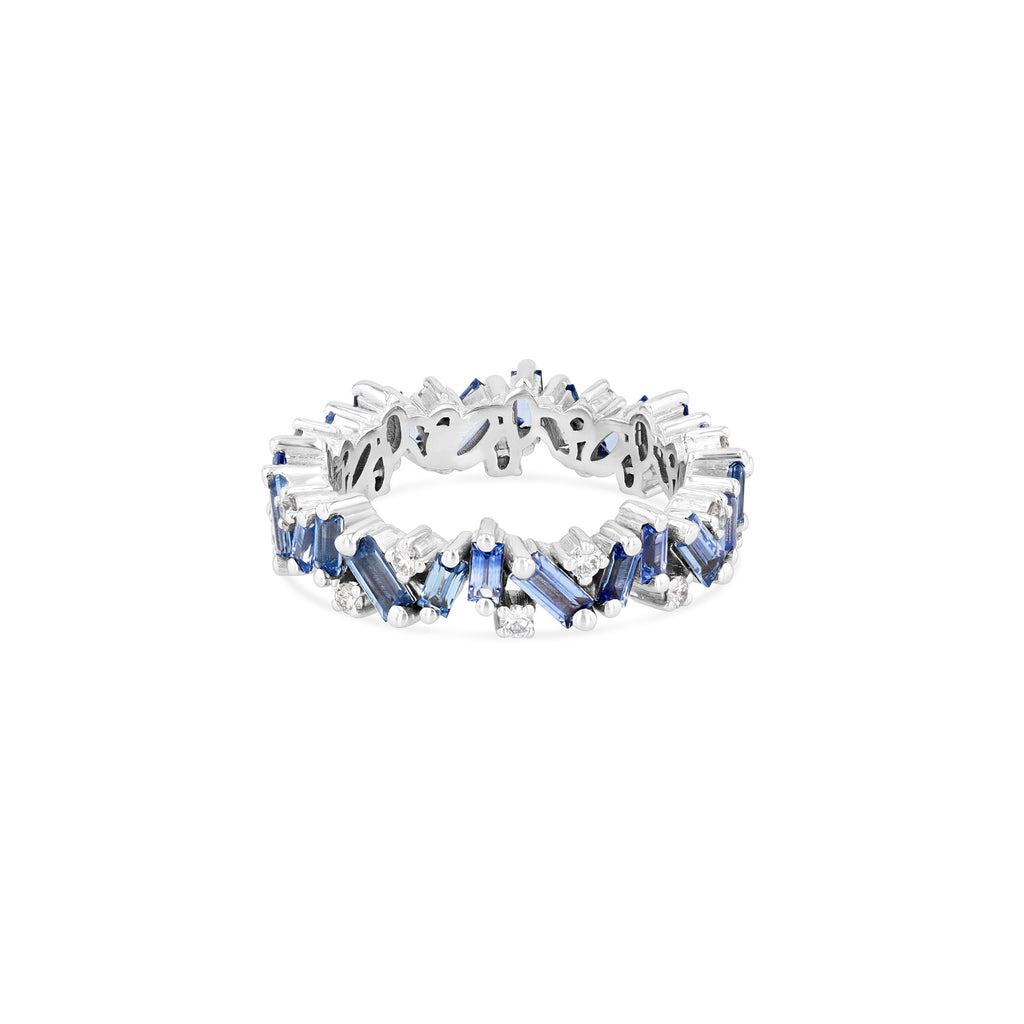 LIGHT BLUE SAPPHIRE FRENZY ETERNITY BAND