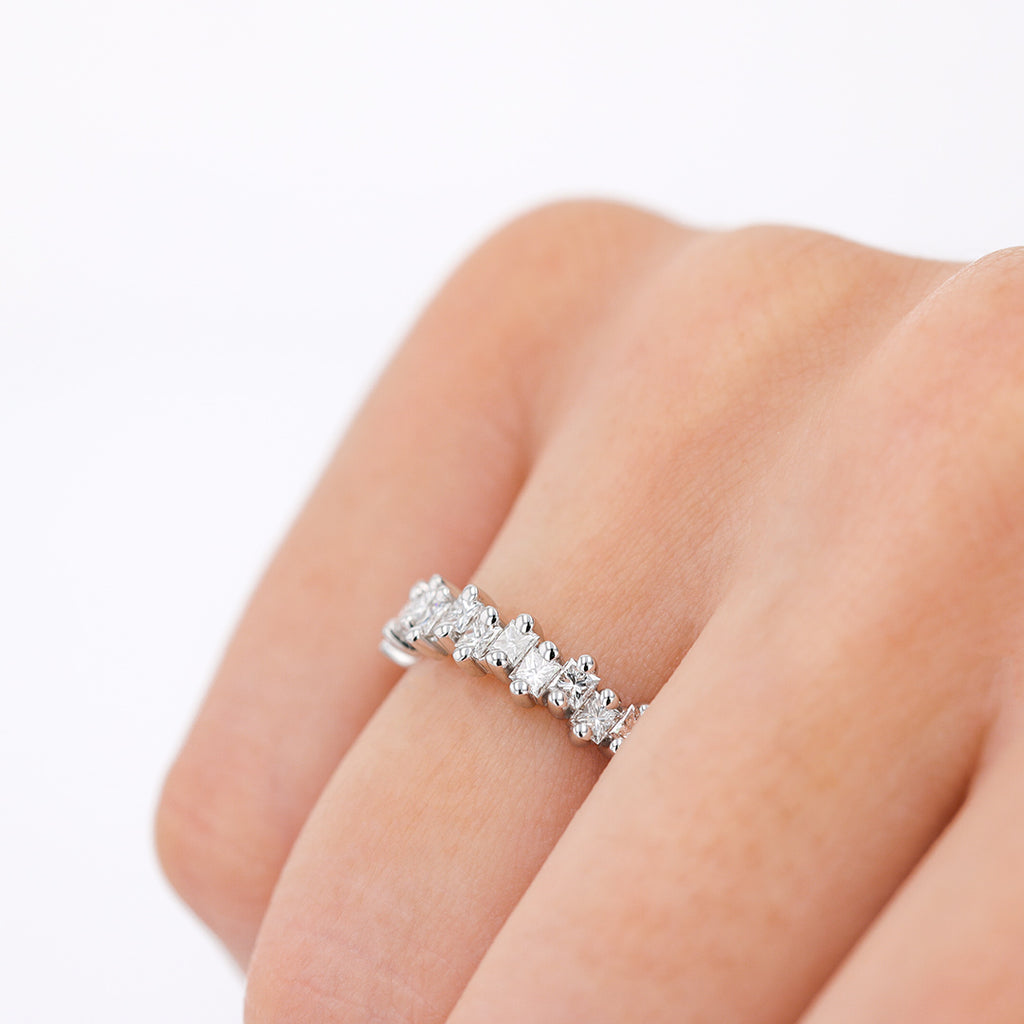 Aria Princess Cut Half Band