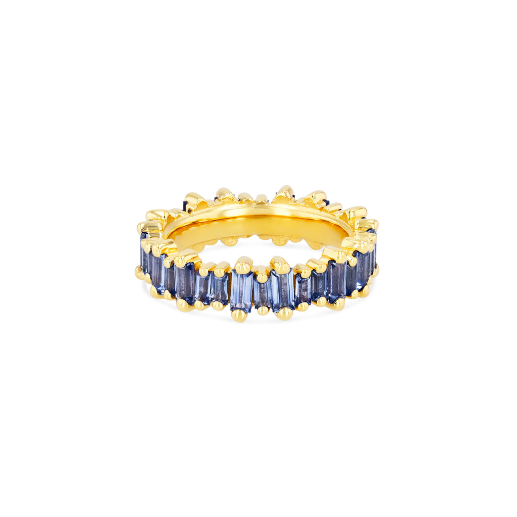 LIGHT BLUE SAPPHIRE BAGUETTE CLASSIC ETERNITY BAND